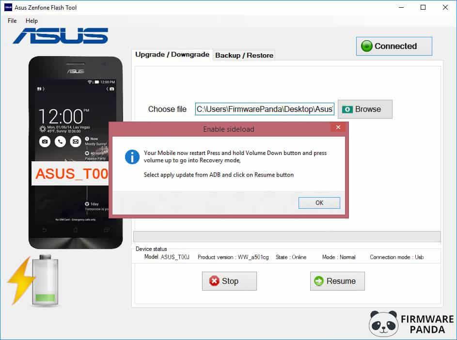 Asus Zenfone Flash Tool ADB Sideload - How to Flash Stock ROM Using Asus Zenfone Flash Tool
