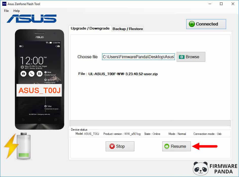 Asus Zenfone Flash Tool Resume Firmware Flashing - How to Flash Stock ROM Using Asus Zenfone Flash Tool