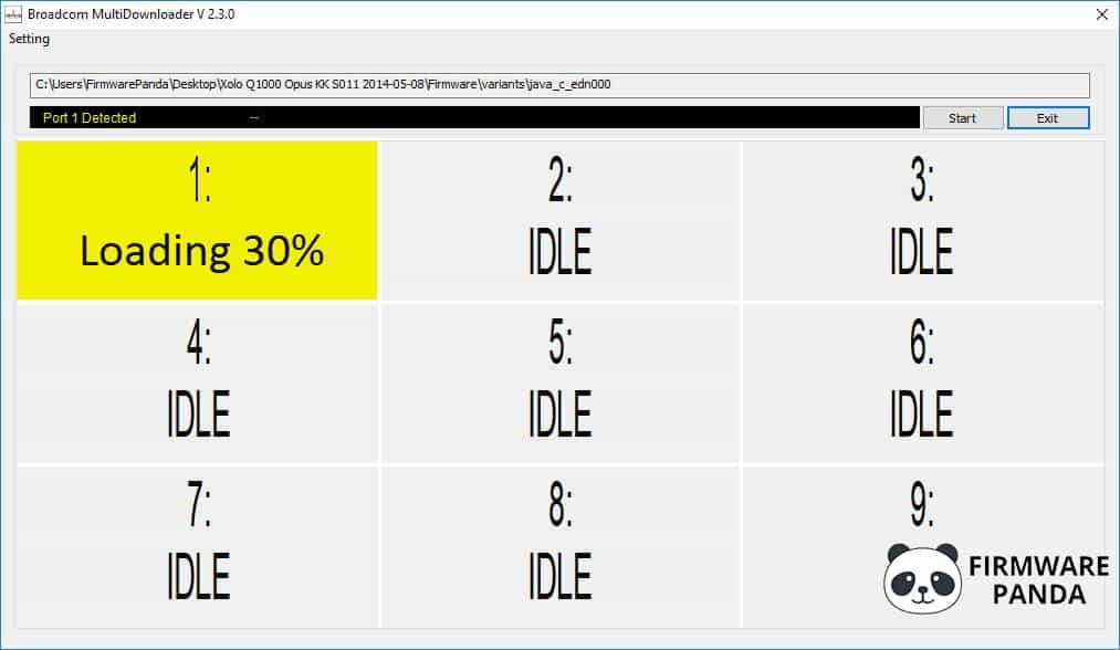 Broadcom Multi Downloader Flashing Firmware - How to Flash Stock Firmware using Broadcom MultiDownloader Tool