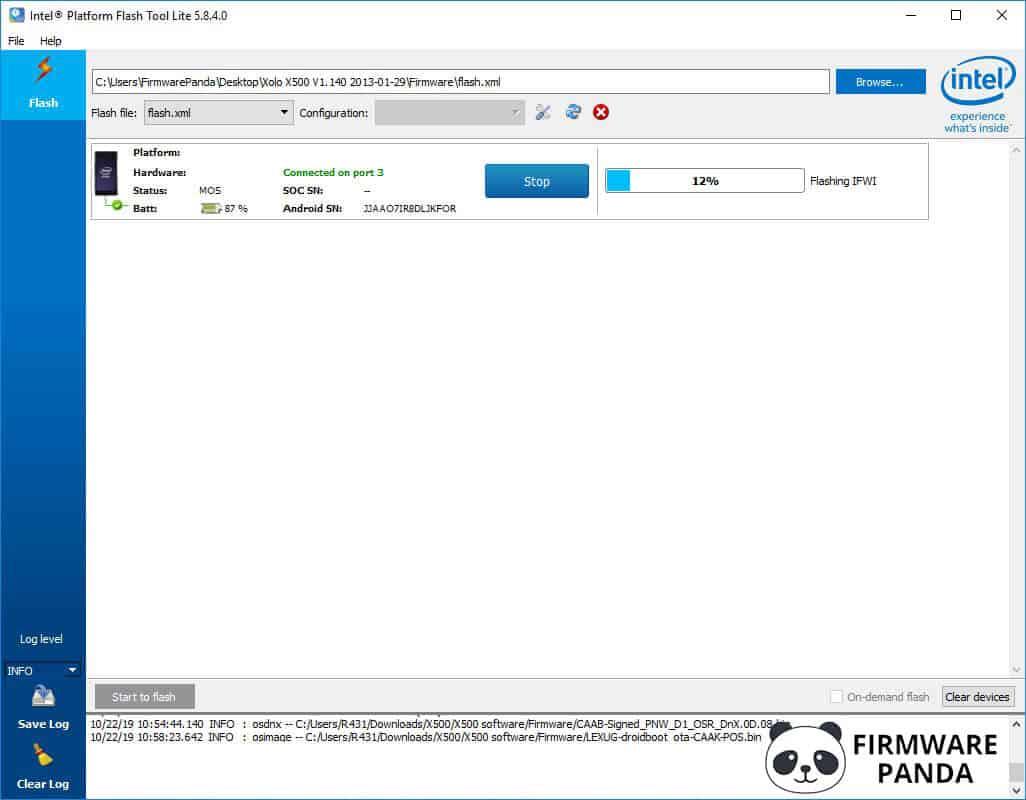 Intel Platform Flash Tool Flashing Firmware - How to Flash Stock ROM using Intel Phone Flash Tool