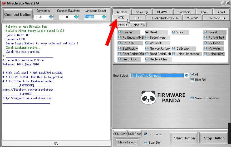 Miracle Box MTK Tab - How to Flash Firmware using Miracle Box Tool