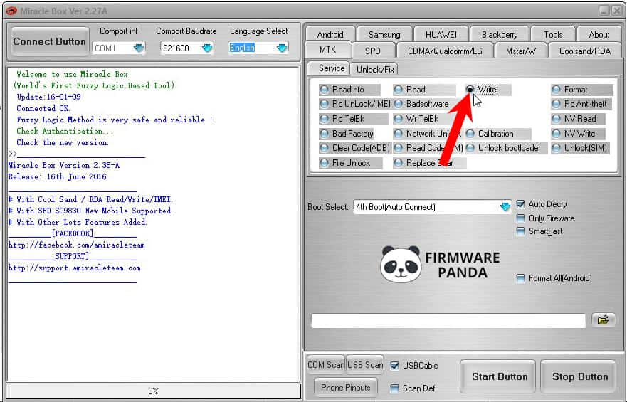 Miracle Box Write option - How to Flash Firmware using Miracle Box Tool