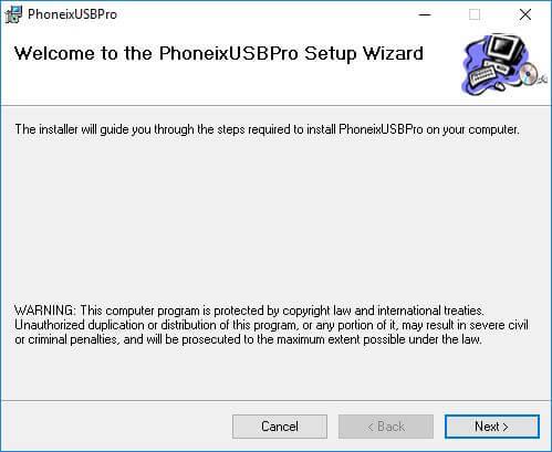 PhoenixUSBPro Installation Wizard - How to Flash Stock ROM using Phoenix USB Pro