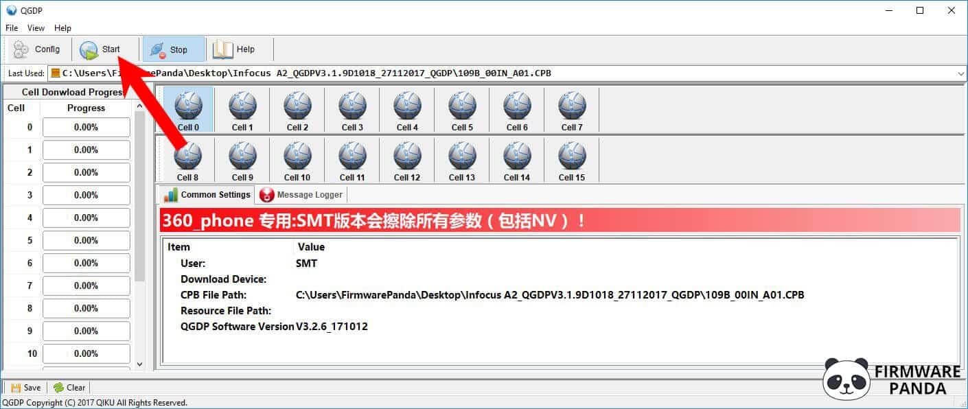 QGDP Tool Start Flashing - How to Flash Stock Firmware using QGDP Tool