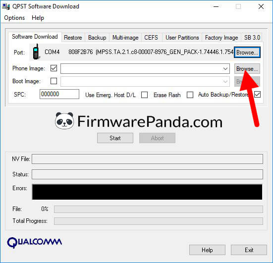 QPST Software Download Load Phone Image - How to Flash Stock ROM Using QPST Tool (Qualcomm Product Support Tool)