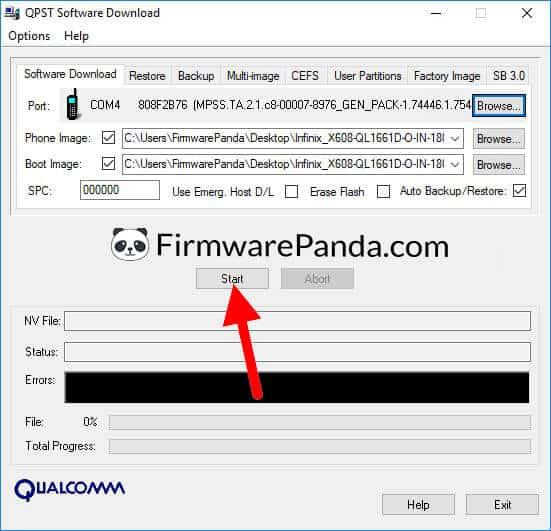QPST Software Download Start Flashing Process - How to Flash Stock ROM Using QPST Tool (Qualcomm Product Support Tool)