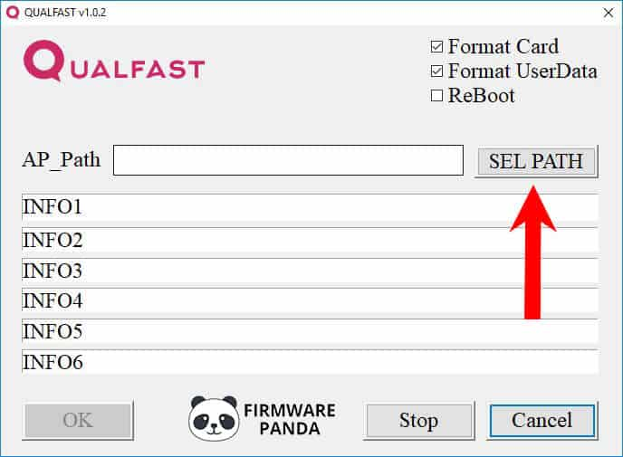 QualFast Select Path - How to Flash Stock ROM using Qualfast Tool