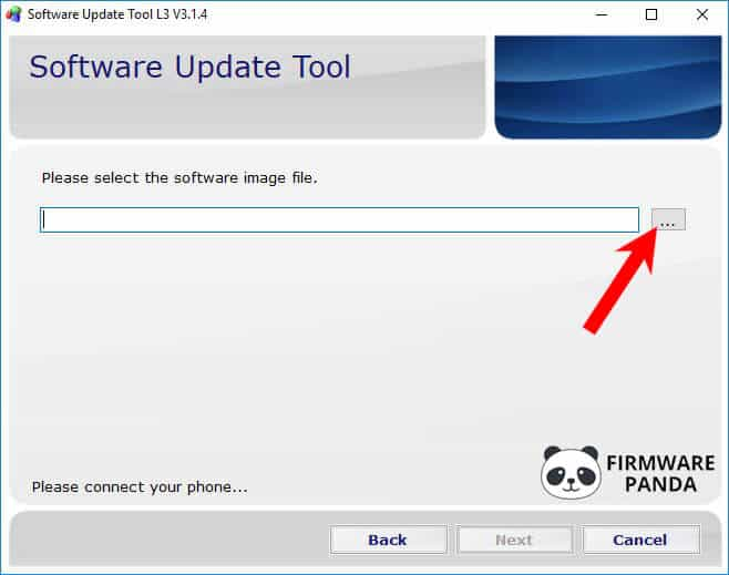 SUT L3 Tool Browse Firmware - How to Flash Stock ROM using SUT L3 Tool