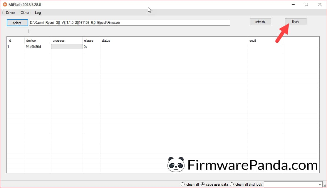 Xiaomi MiFlash Tool Start flashing process - How to Flash Stock ROM Firmware using Mi Flash Tool