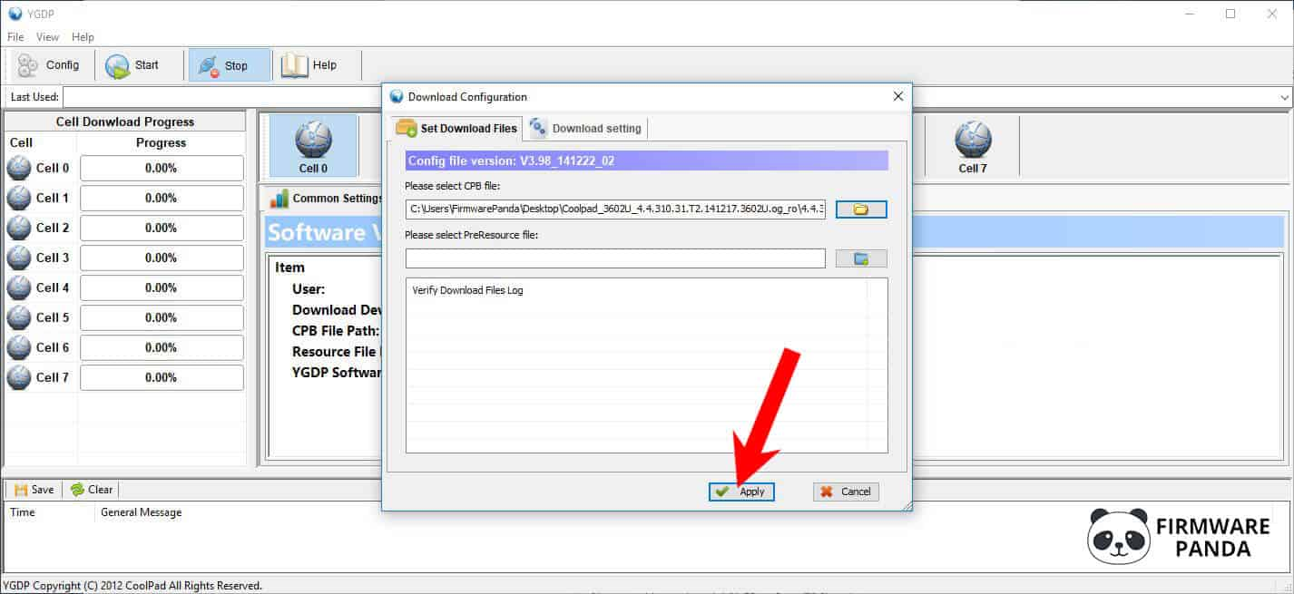 YGDP Tool Select Firmware - How to Flash Stock Firmware using YGDP Tool