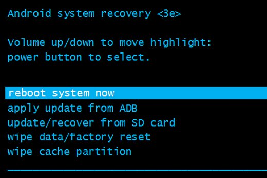 reboot system now - How to Flash Stock ROM using Recovery