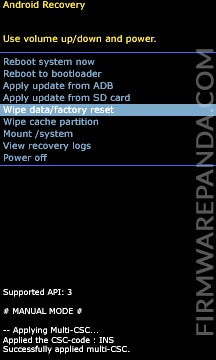samsung wipe data factory reset - How to Flash Samsung Stock ROM Firmware using Odin