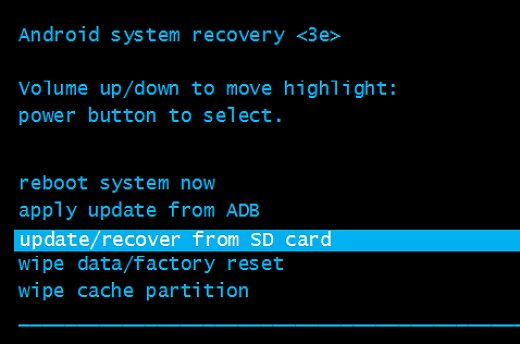 update recover from SD card - How to Flash Stock ROM using Recovery