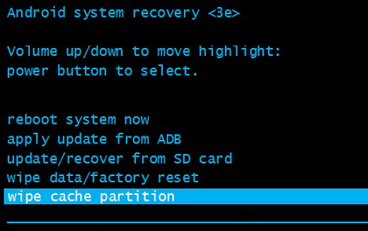wipe cache partition - How to Flash Stock ROM using Recovery